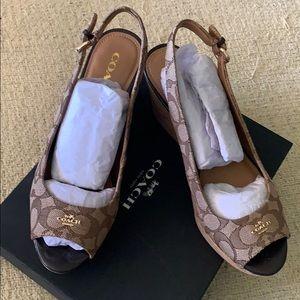 Coach wedge woman's heels